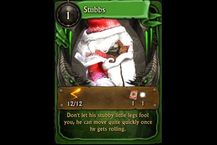 Minion Card: Stubbs4 Icicles + 300 Snowflakes