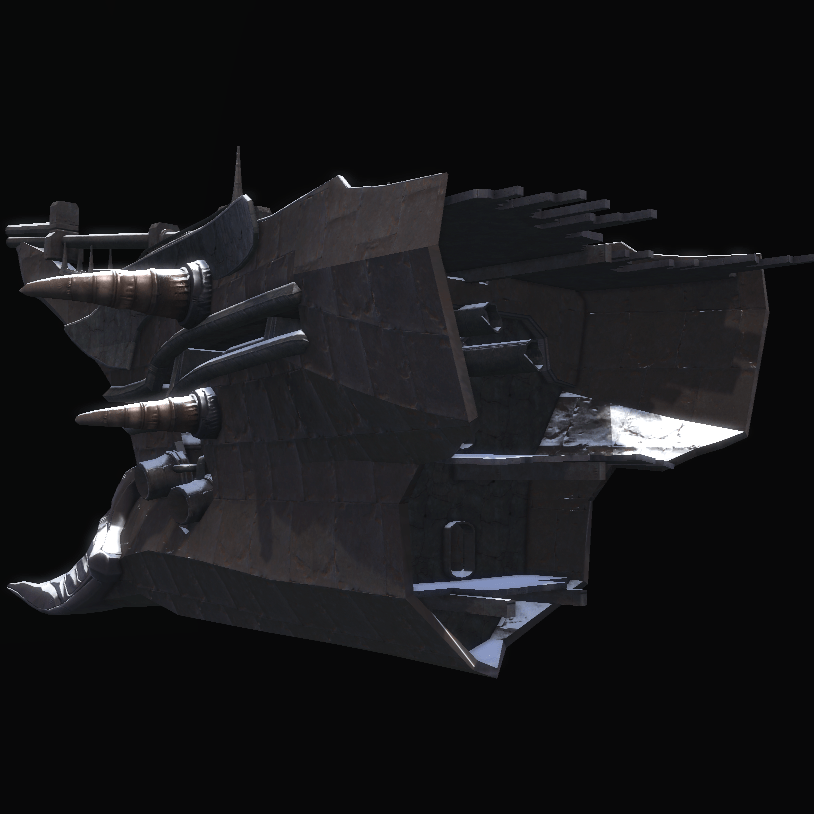 Frozen Warship Bow