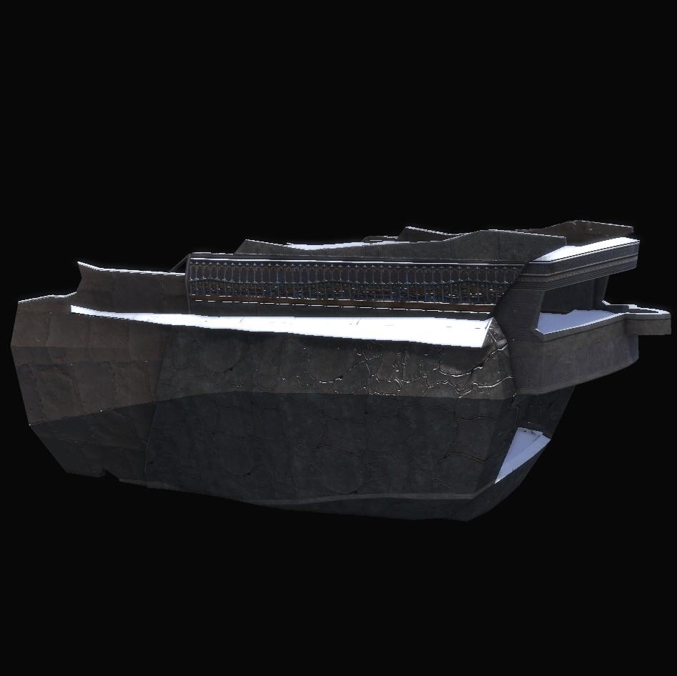 Frozen Warship Stern