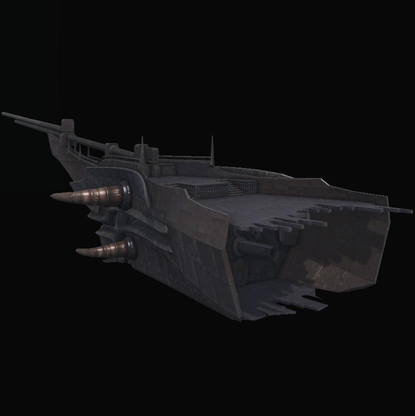 Sunken Warship Bow