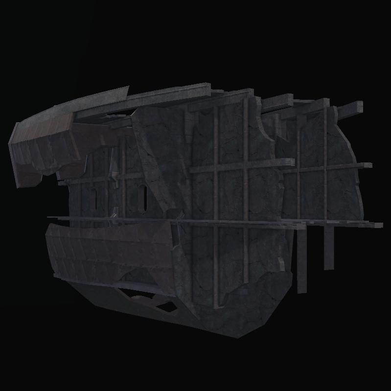 Sunken Warship Hull