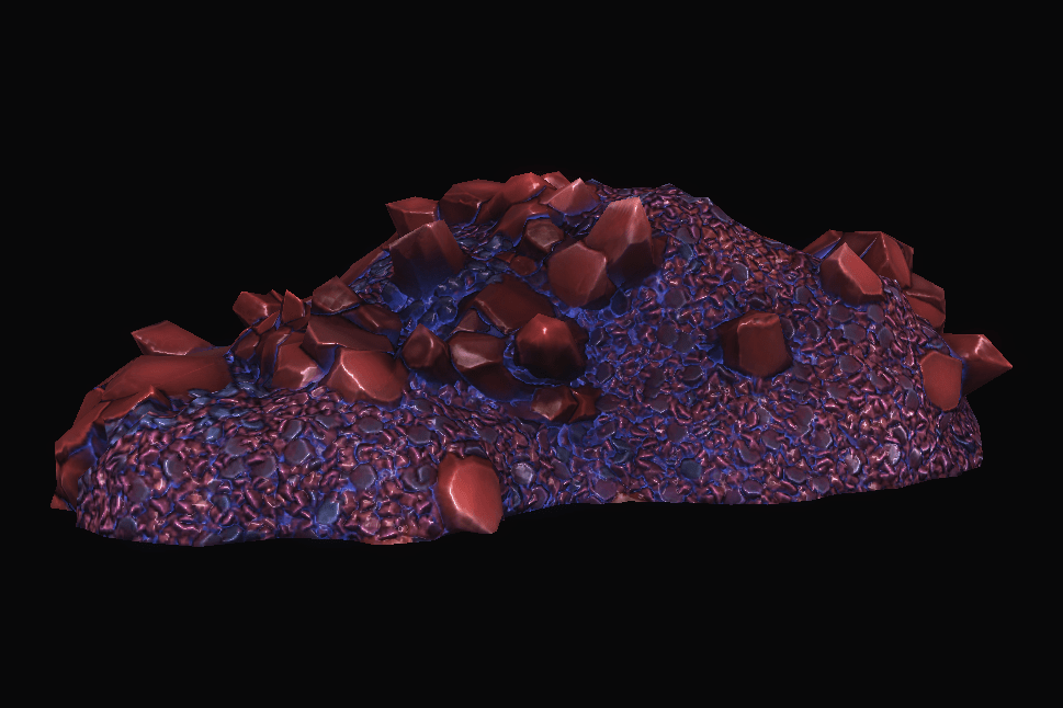 Red Bulky Crystal Structure