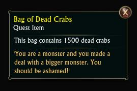 Bag of Dead Crabs