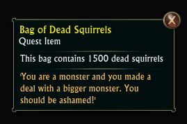 Bag of Dead Squirrels