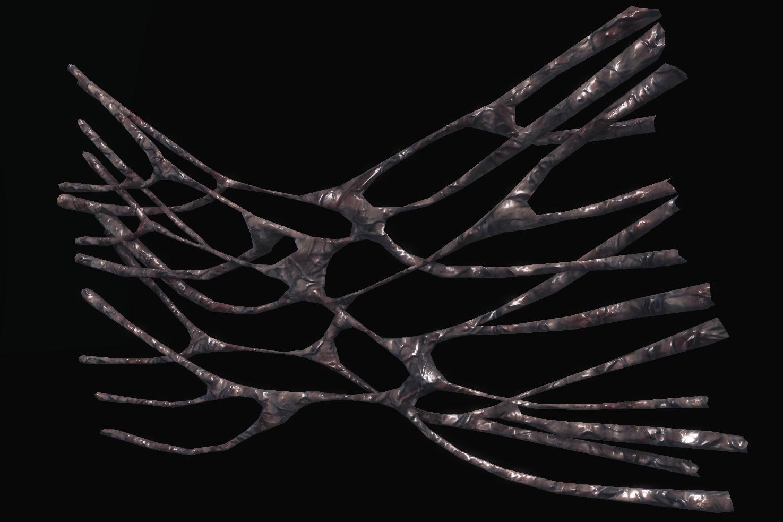 Entangled Membrane (No Collision)