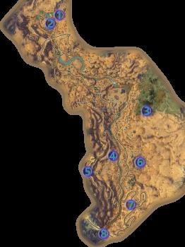 Mathosia - Scarlet Gorge - Bounty Map